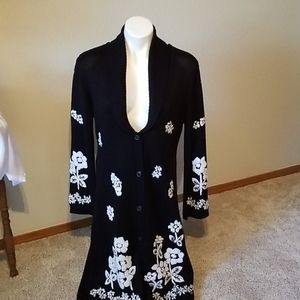 White House black market black long sweater